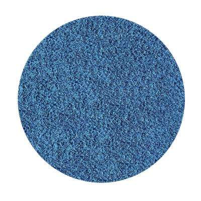Bella Collection Blue 5 ft. x 5 ft. Round Area Rug