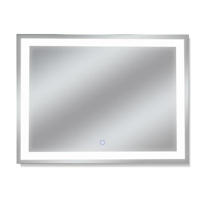 Edison Tri-Color 48 in. x 36 in. LED Wall Mounted Backlit Vanity Bathroom Mirror