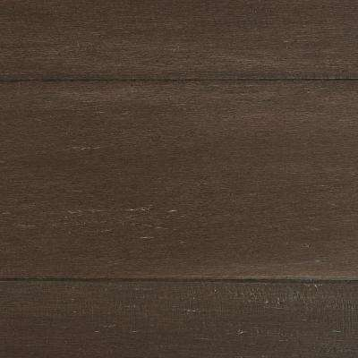Take Home Sample - Wire Brushed Strand Woven Sage Click Bamboo Flooring - 5 in. x 7 in.