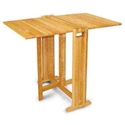 Natural Hardwood Butcher Block Folding Table
