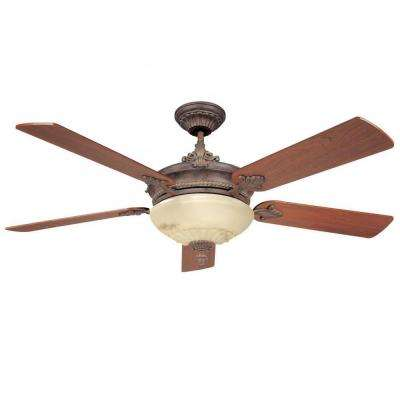 Tartan 52 in. Autumn Gold Indoor Ceiling Fan