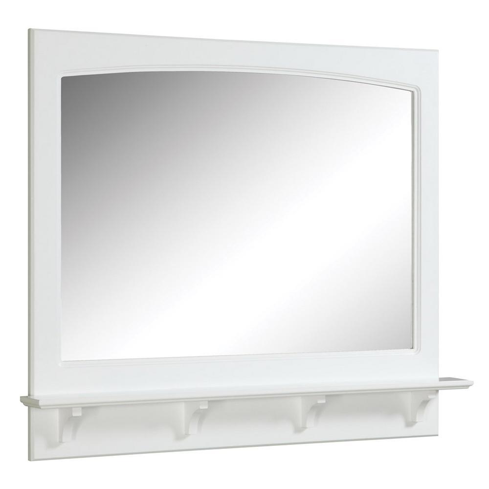 Concord 36 in. W x 31 in. H Framed Rectangular Bathroom Vanity Mirror in White