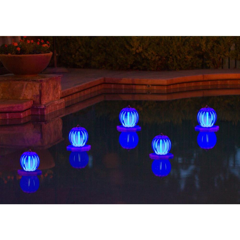 Poolmaster Floating Solar Lantern 2 Pack In Blue 54501