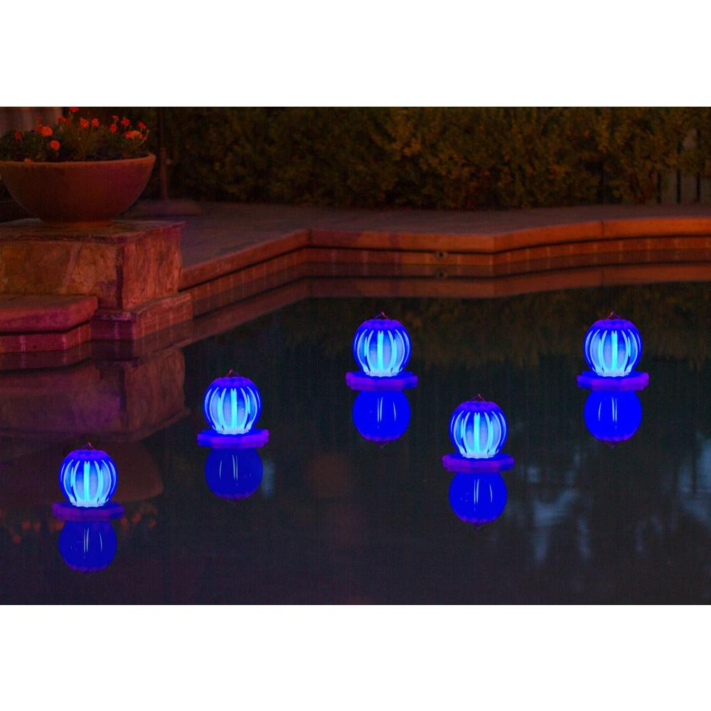 Poolmaster Floating Solar Swimming Pool Lantern - 2 Pack in Blue ...