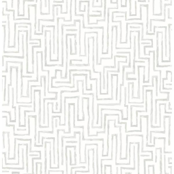 Ramble Grey Geometric Paper Strippable Roll (Covers 56.4 sq. ft.)