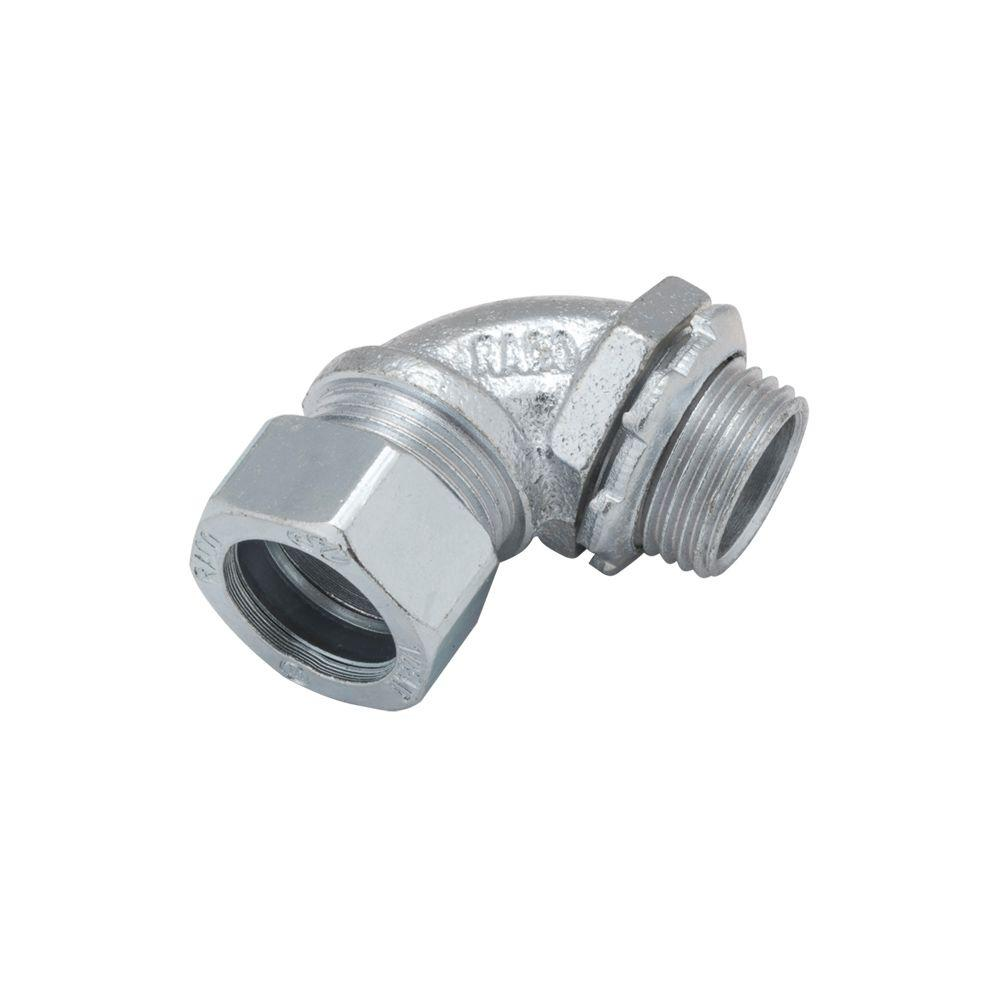 RACO EMT 1/2 in. Short Angle Compression Connector (25-Pack)