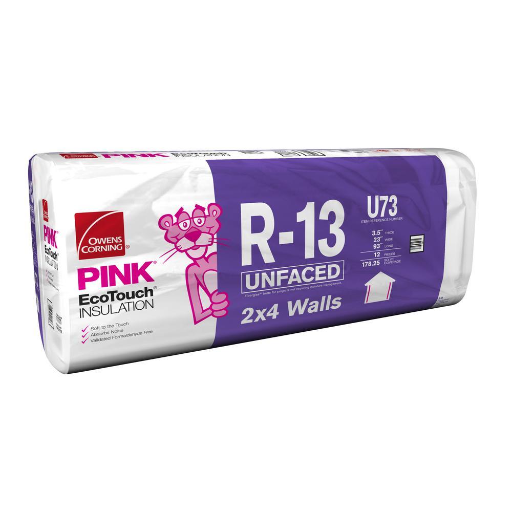 R-13 Unfaced Fiberglass Insulation Batt 23 in. x 93 in.