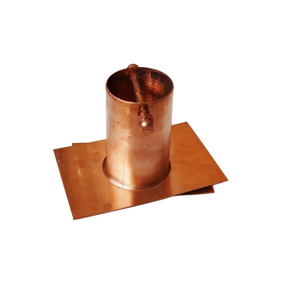 Pure Copper Rain Chain Gutter Adapter (2-Piece)