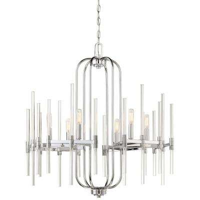 Pillar 6-Light Chrome Chandelier
