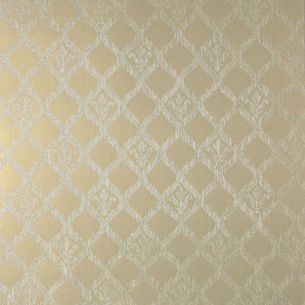Jakarta Gold Ikat Motif Wallpaper