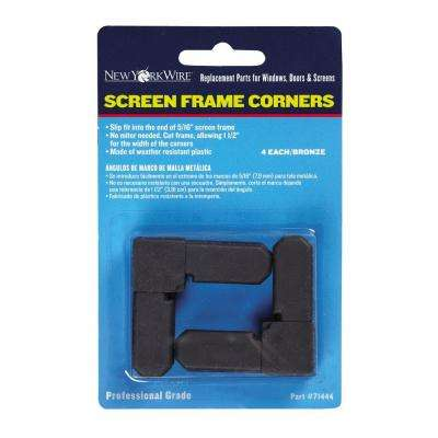 Brown 5/16 in. Screen Frame Corners (4-Pack)