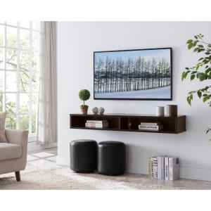Furniture of America Evaine 60 in  Cappuccino Wall Mounted