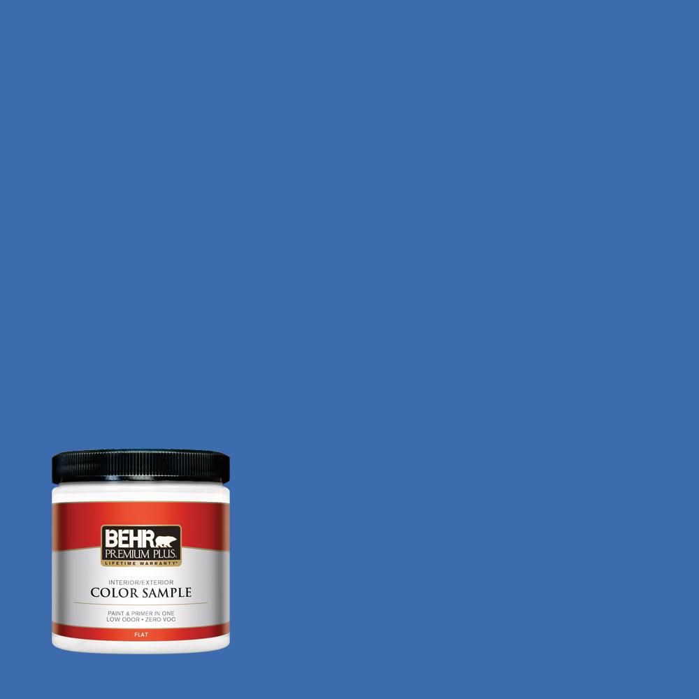 8 oz. #T18-17 Wide Sky Flat Interior/Exterior Paint Sample