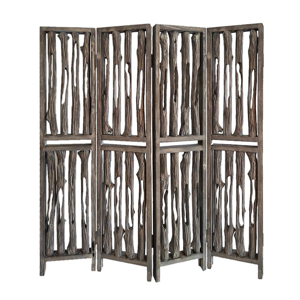 Screen Gems Brown Panel Room Divider