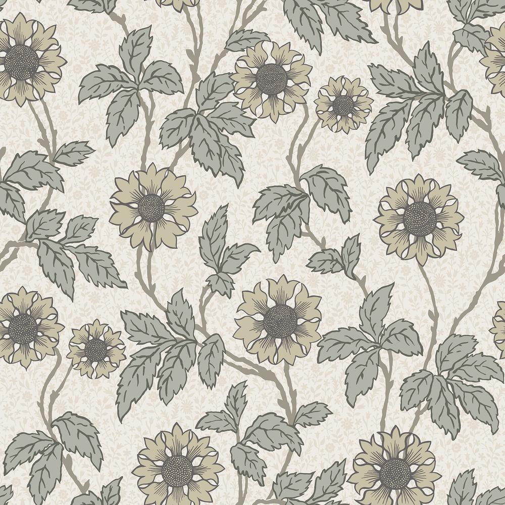 Leilani White Floral Wallpaper