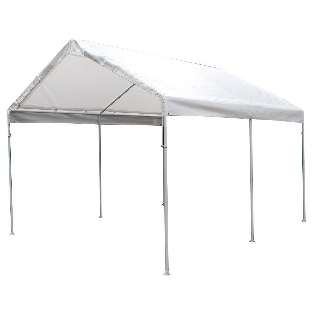 King Canopy 10 ft. W x 13 ft. D White Drawstring Cover