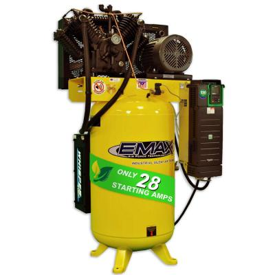 Industrial PLUS 80 Gal. 10HP Multi-Phase Electric Variable Speed Smart Pressure Lube Air Compressor and Cooling Radiator