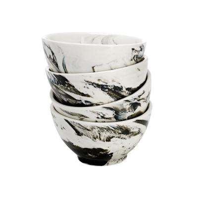 Black Marble Bowl (Set of 4)
