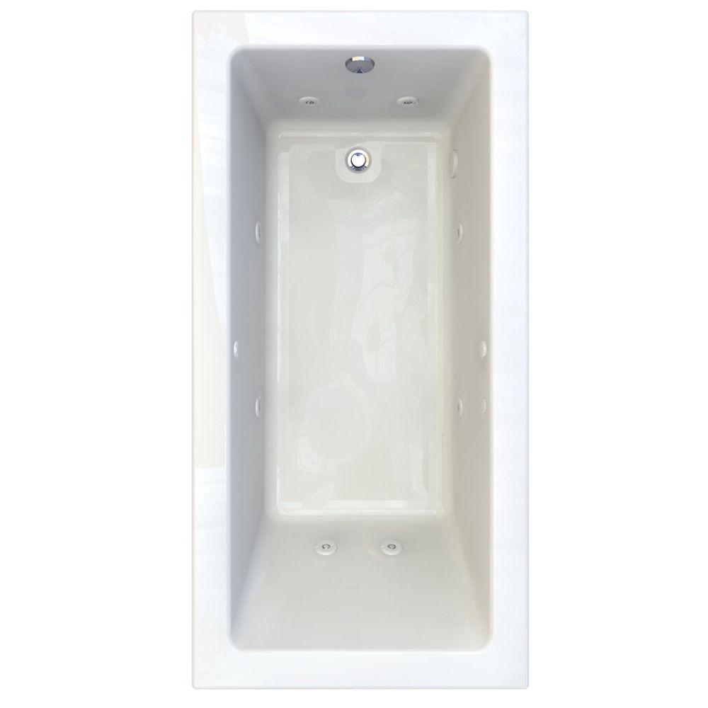 American Standard Studio EverClean 6 ft. x 36 in. Whirlpool Tub with 4 in. Edge Profile in White