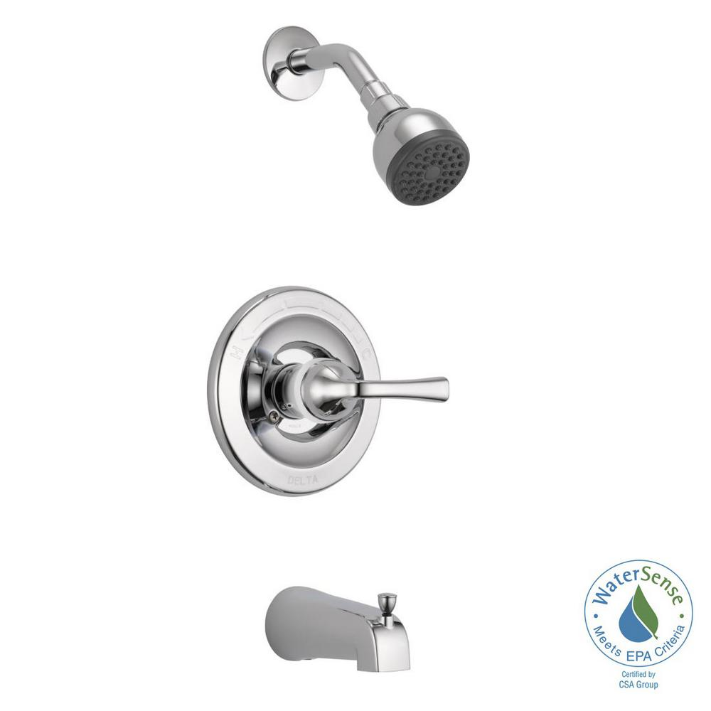 Delta Foundations Single Handle 1 Spray Tub And Shower Faucet In