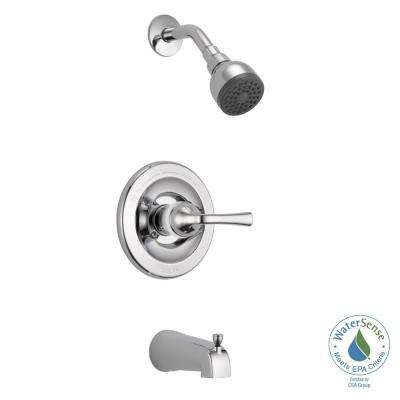 Foundations Single Handle 1 Spray Tub And Shower Faucet In Chrome Valve Included