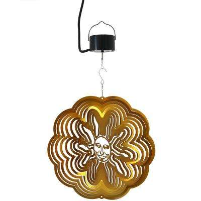Gold Sun 12 in. Whirligig Wind Spinner with Electric-Operated Motor