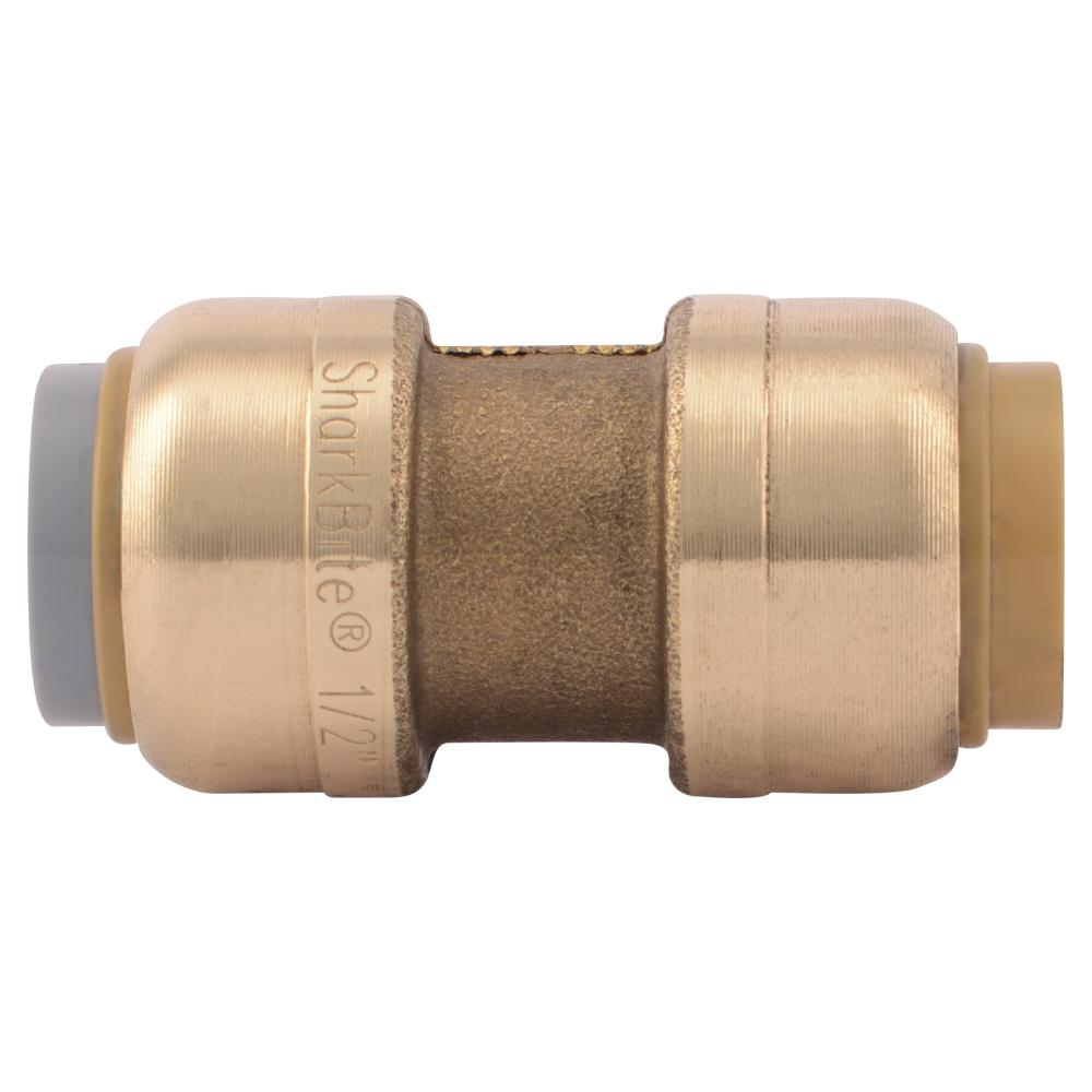 1/2 in. Brass Push-to-Connect Polybutylene Conversion Coupling (4-Pack)