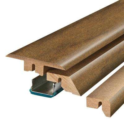 Harvest Cherry 3/4 in. Thick x 2-1/8 in. Wide x 78-3/4 in. Length Laminate 4-in-1 Molding