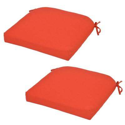 CushionGuard Ruby Outdoor Seat Cushion (2-Pack)