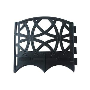 Abba Patio 6.4 in. x 5.7 in. Black Recycled Plastic Garden Fence