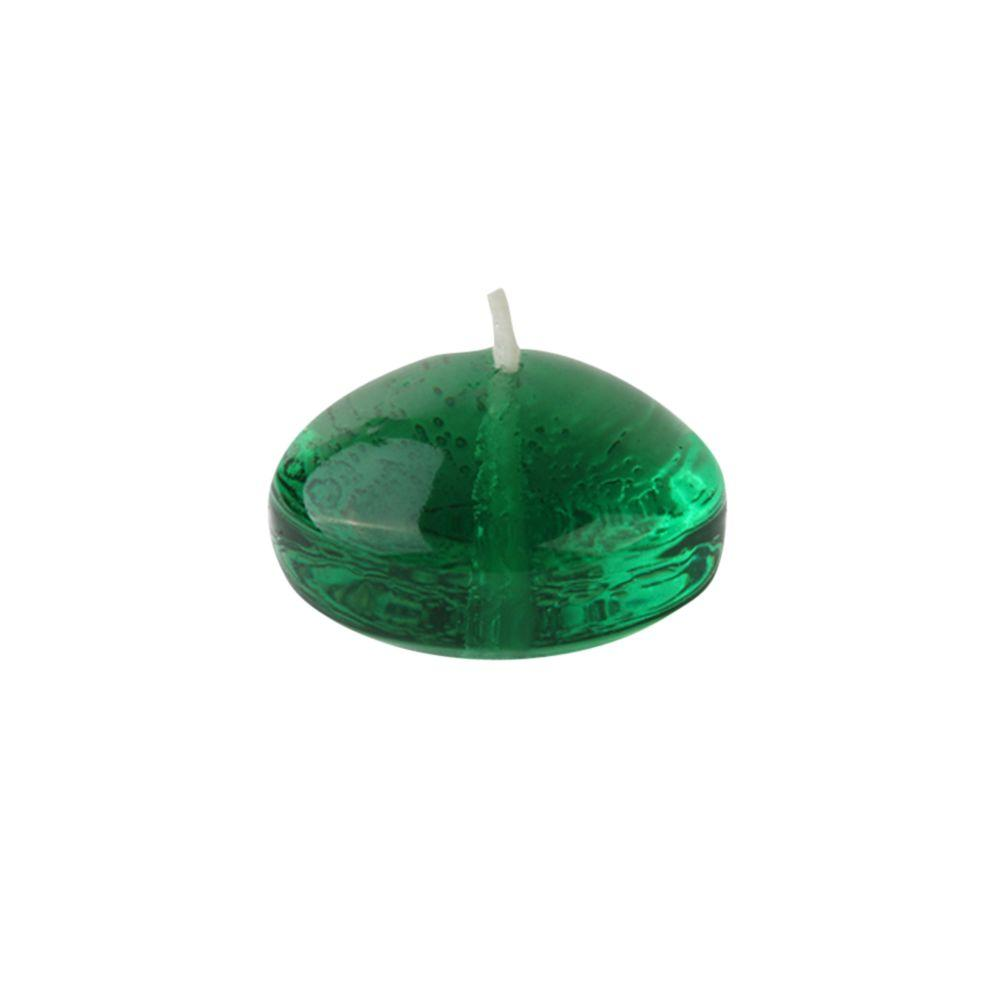1.75 in. Clear Hunter Green Gel Floating Candles (Box of 12)