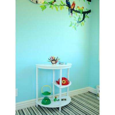 White 3-Tier End Table
