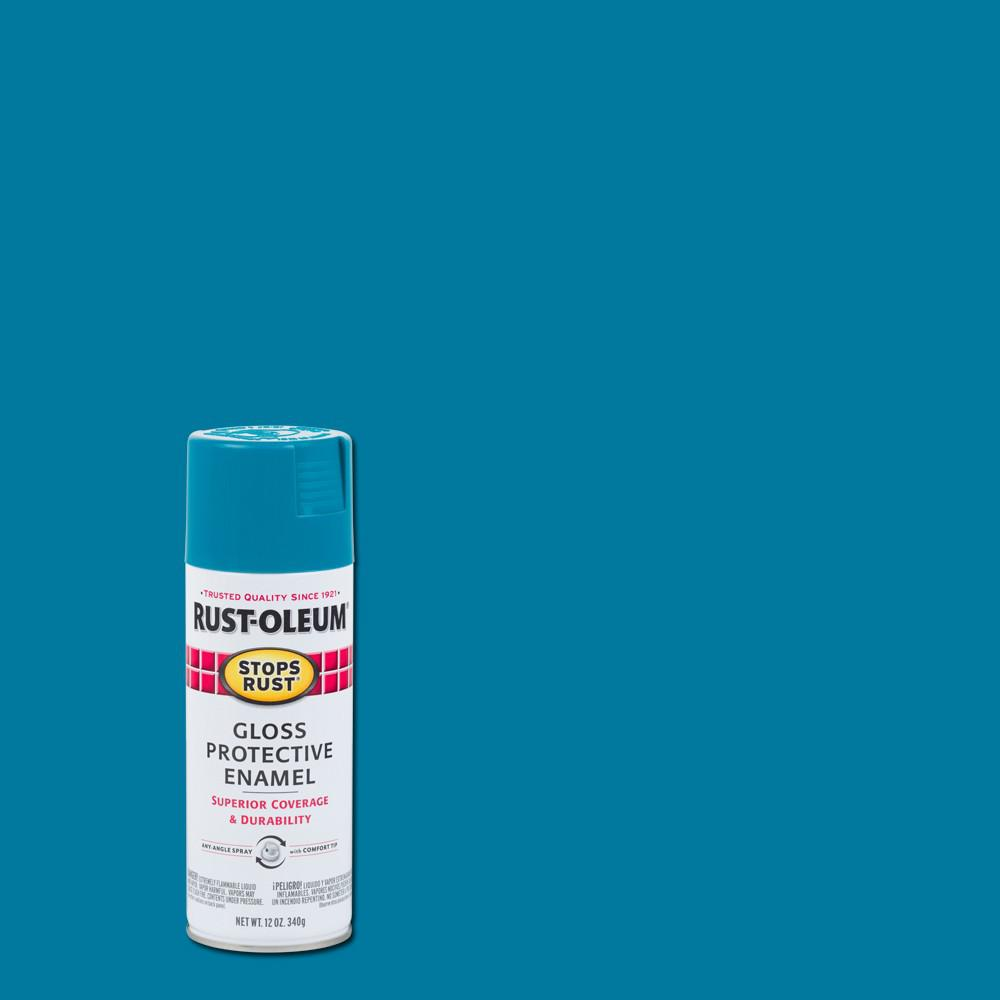 Rust oleum stops rust 12 oz protective enamel gloss lagoon spray paint 6 pack 277239 the Teal spray paint for metal