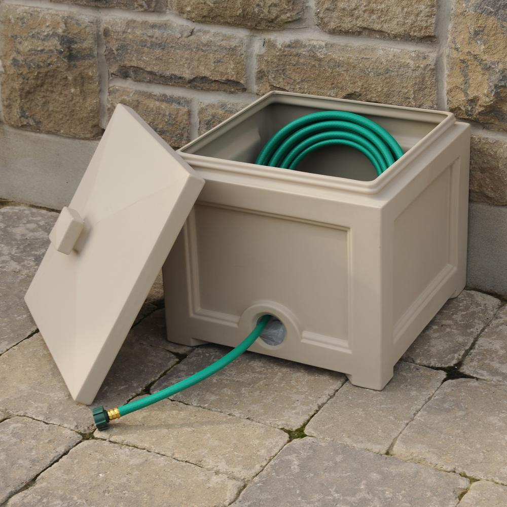 Garden Hose Solutions: Mayne Fairfield Garden Hose Bin In Clay-5858-C