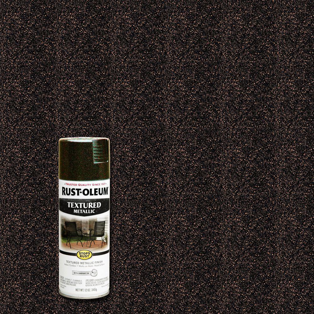 Rust-Oleum Stops Rust 12 oz. Textured Metallic Mystic Brown Protective Spray Paint