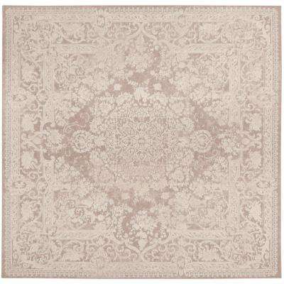 Reflection Beige/Cream 7 ft. x 7 ft. Square Area Rug