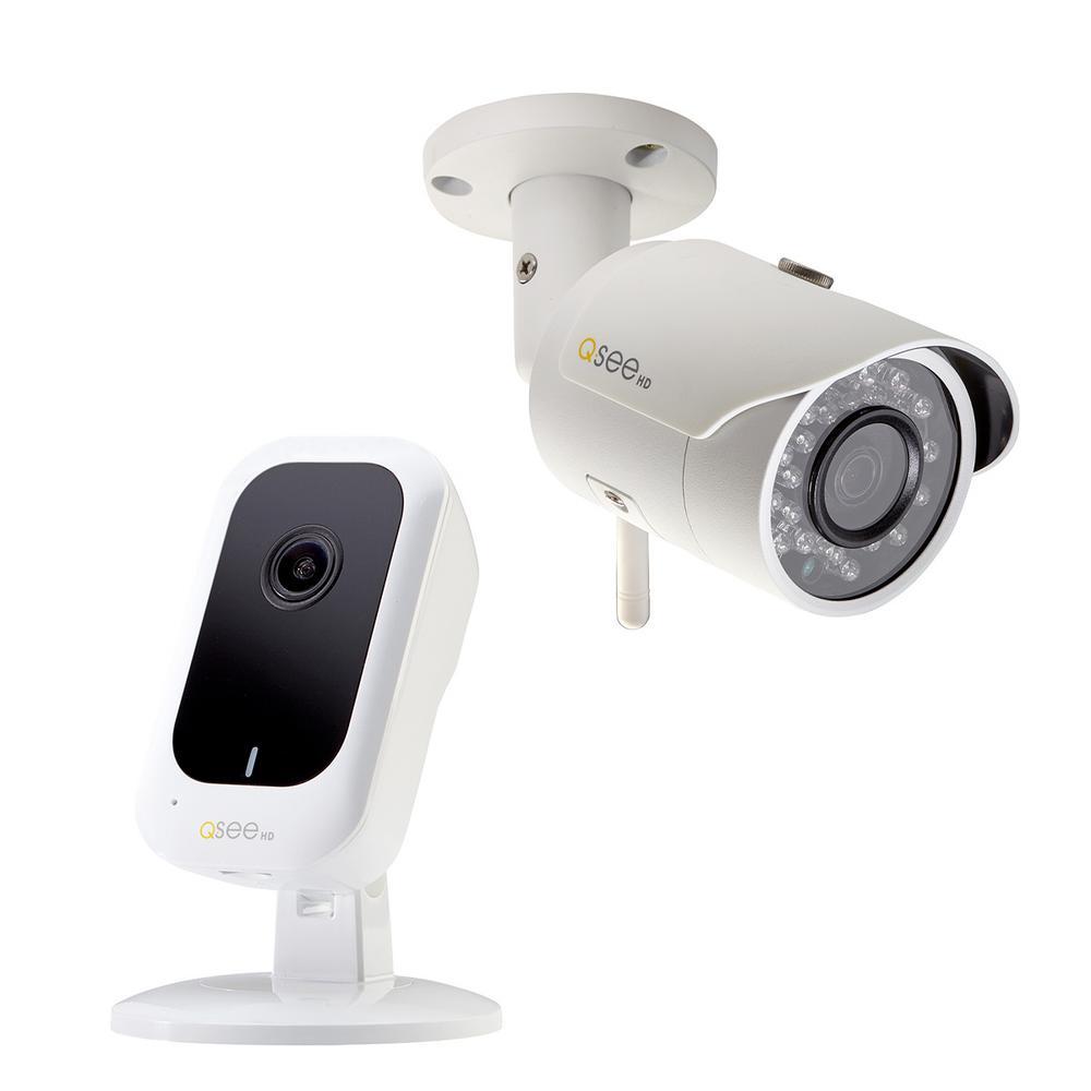 3MP IP Wi-Fi Mini Cube Surveillance Camera and 3MP IP Wi-Fi Bullet Surveillance Camera Security Bundle