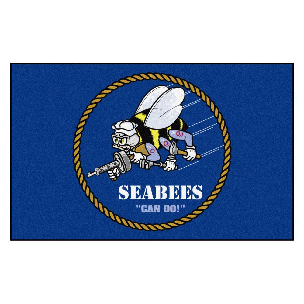 U.S. Navy - Seabees 5 ft. x 8 ft. Ulti-Mat Area Rug