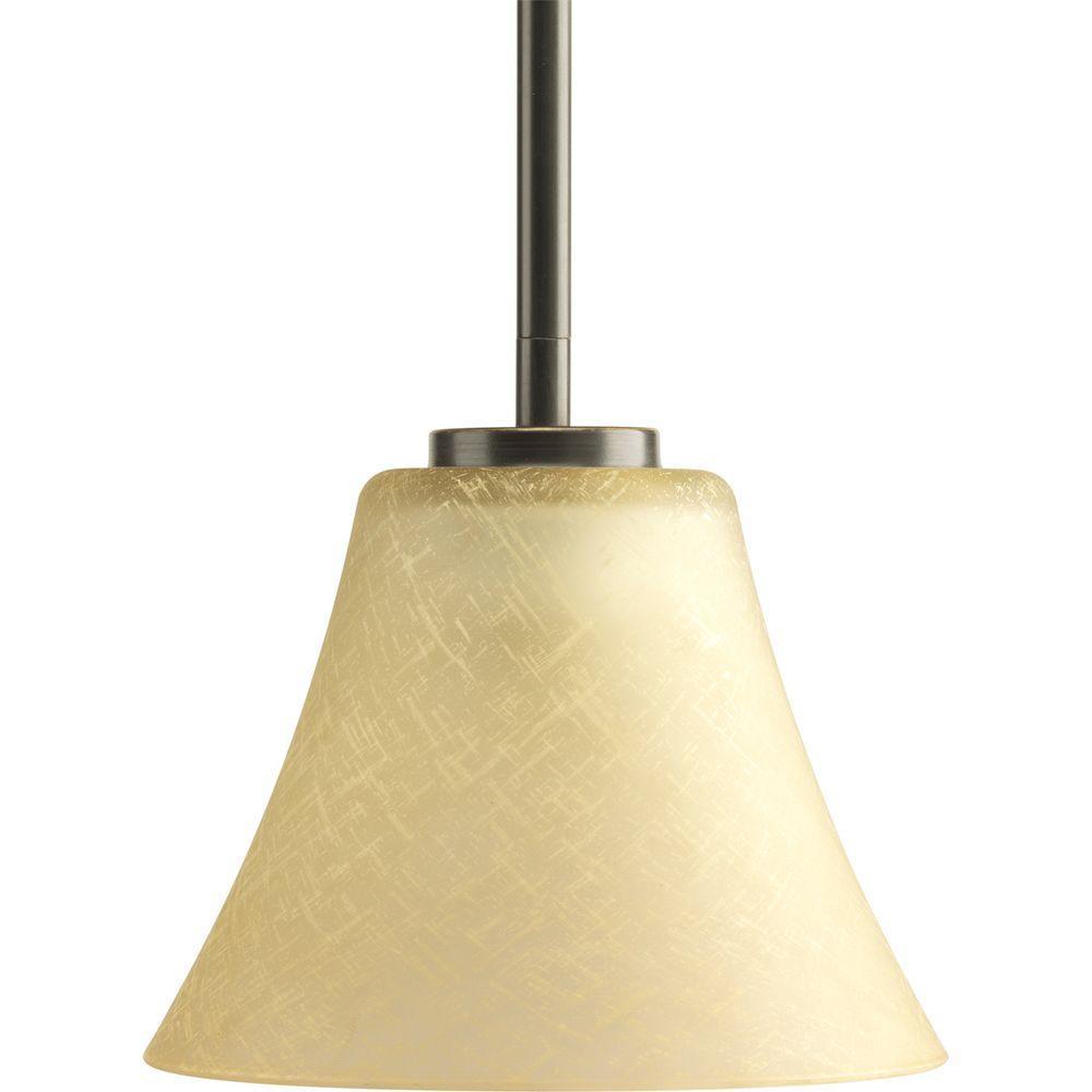 Progress Lighting Bravo Collection 1-Light Antique Bronze Mini Pendant with Umber Linen Glass was $36.35 now $18.17 (50.0% off)