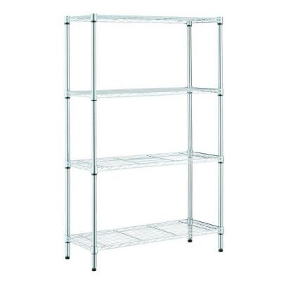 36 in. W x 14 in. D x 54 in. H 4-shelves Chrome Garage Shelving Unit