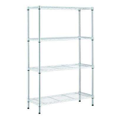 36 in. W x 14 in. L x 54 in. H 4-Shelves Chrome Storage Unit