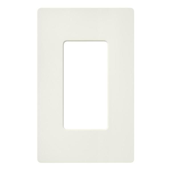 Claro 1 Gang Decorator/Rocker Wallplate, Biscuit (1-Pack)