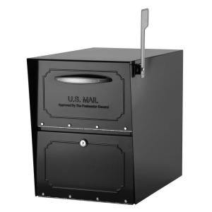 Architectural Mailboxes Oasis Jr. Elite Black Post-Mount Locking Mailbox by