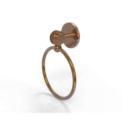 Satellite Orbit Two Collection Towel Ring with Dotted Accent in Brushed Bronze
