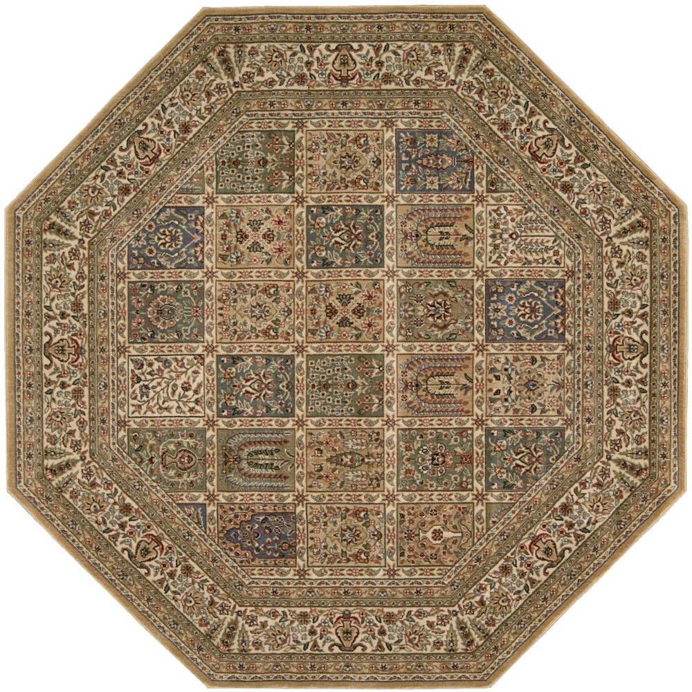 Nourison Persian Arts Beige 7 Ft 9 In Octagon Area Rug