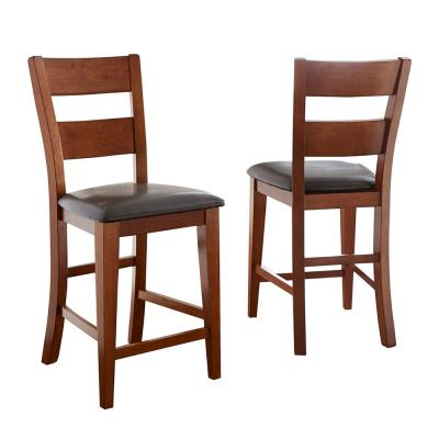 Mango 24 in. Brown Counter Chair (Set of 2)