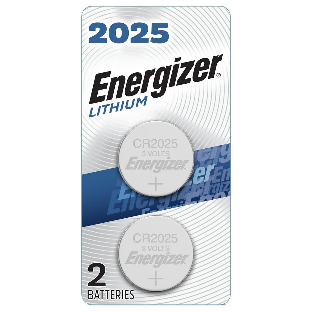 Energizer 2025 Batteries (2 Pack), 3V Lithium Coin Batteries