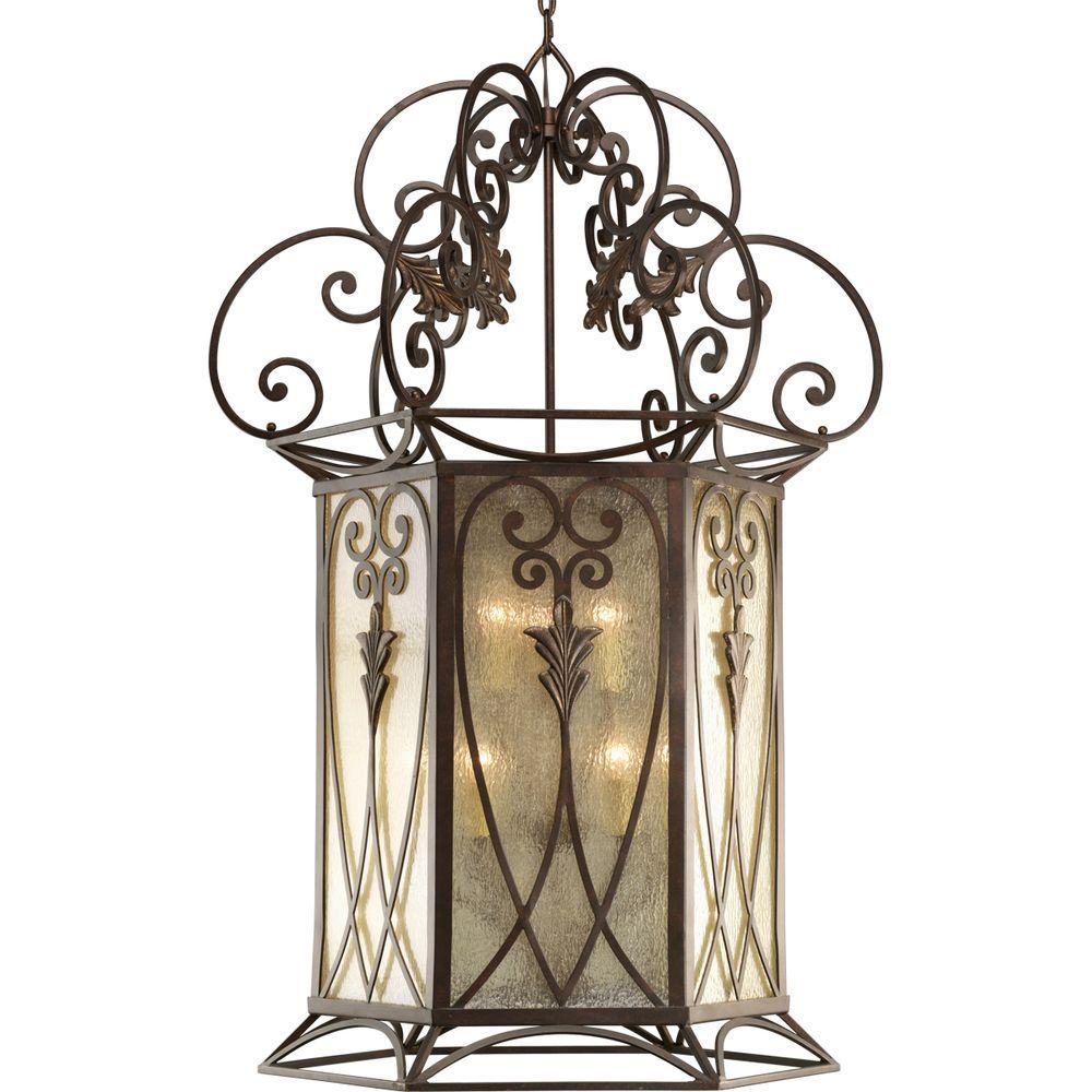 Thomasville Lighting Drayton Hall Collection 9-Light Aged Mahogany Foyer Pendant