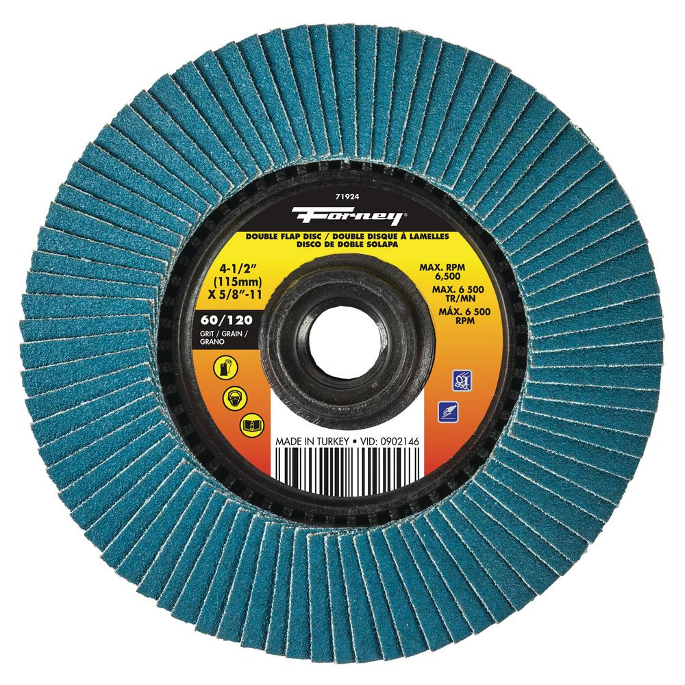 Forney 60/120 Grits Double-Sided Flap Disc