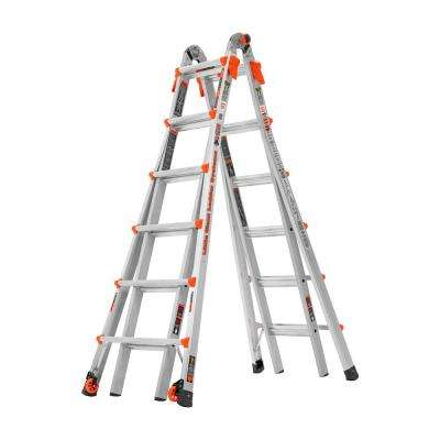 LT 26 ft. Aluminum Multi-Position Ladder with 300 lbs. Capacity Type IA